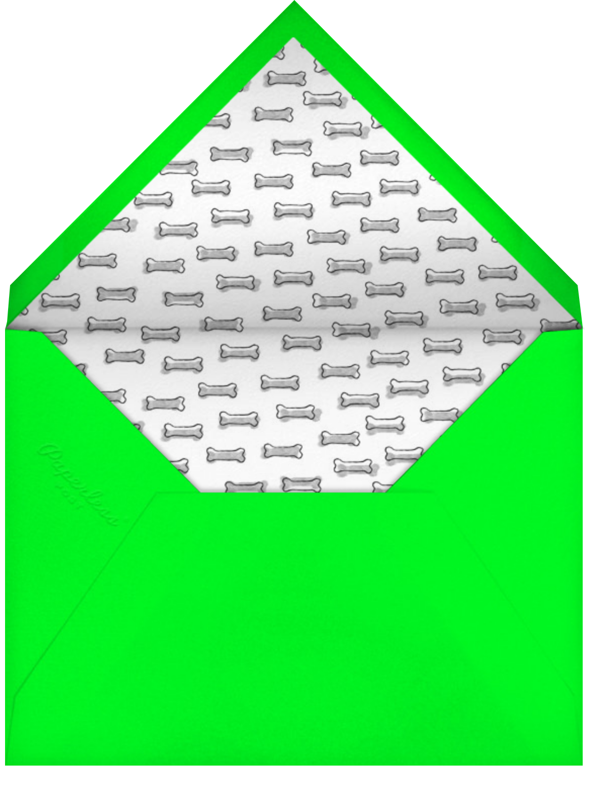 Your Favorite Child - Green - Paperless Post - Mother's Day - envelope back