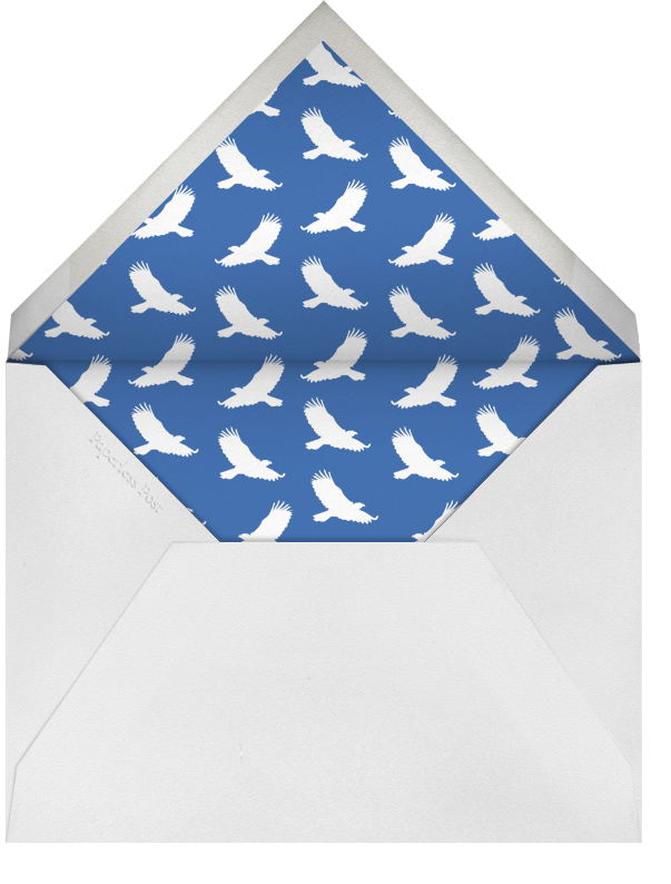 Lincoln Motif - White - Paperless Post - Graduation - envelope back