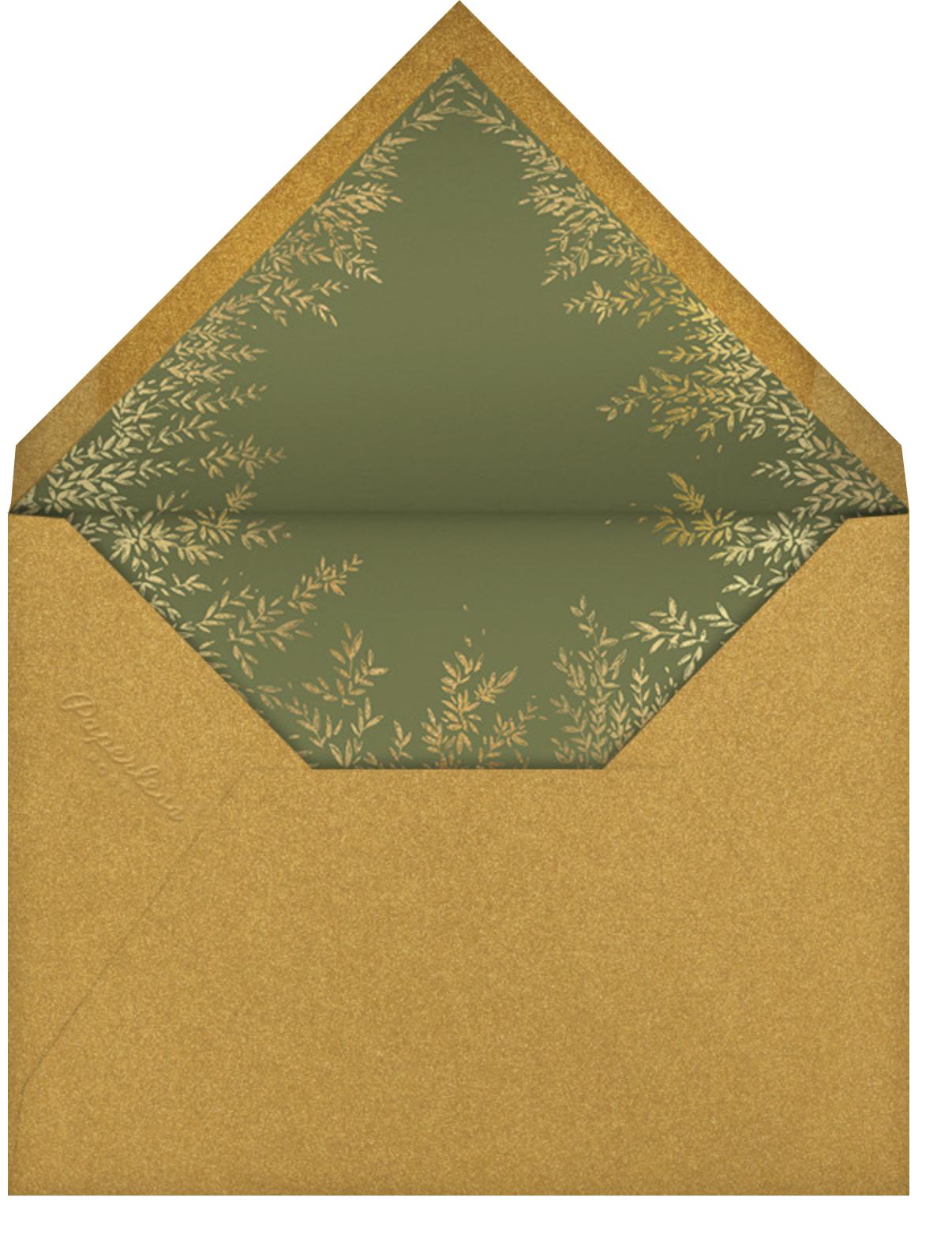 Gold Wreath - Paperless Post - Envelope