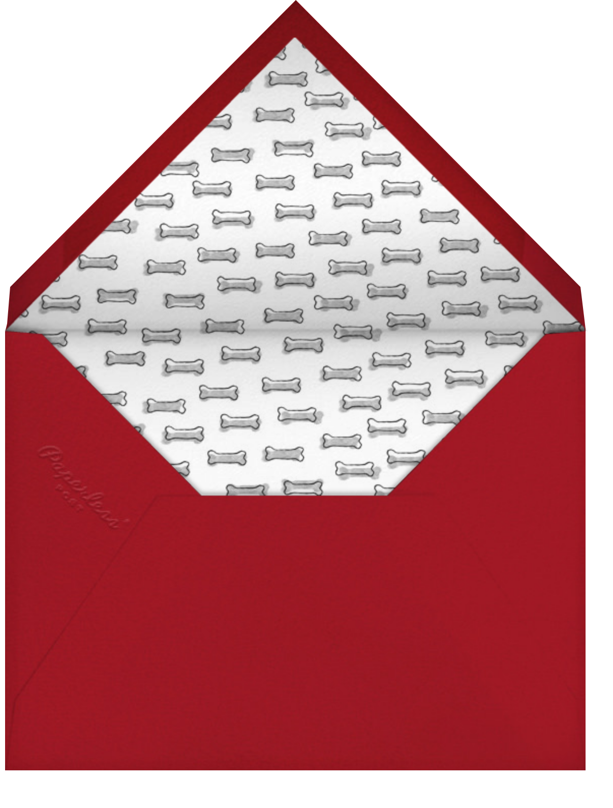 Father's Day Dog - Red - Paperless Post - Envelope