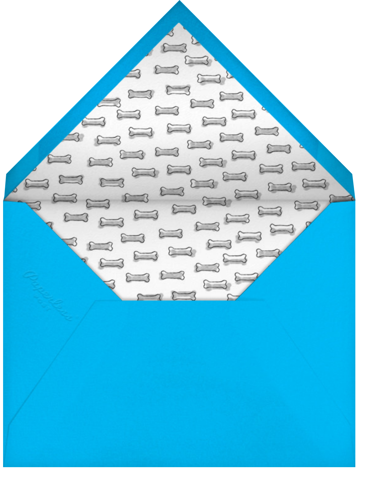 Father's Day Dog - Blue - Paperless Post - Envelope