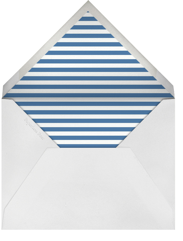 Lincoln Silhouette - Blue - Paperless Post - 4th of July - envelope back