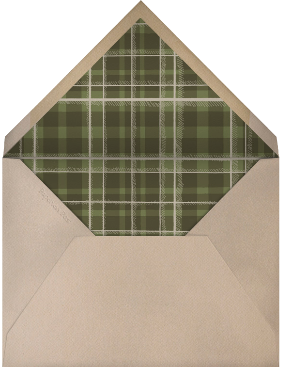 Fox and Hat - Chipboard - Paperless Post - Autumn entertaining - envelope back