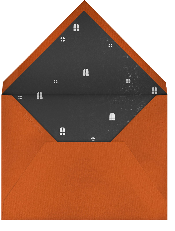 Haunted House - Gray - Paperless Post - Halloween - envelope back