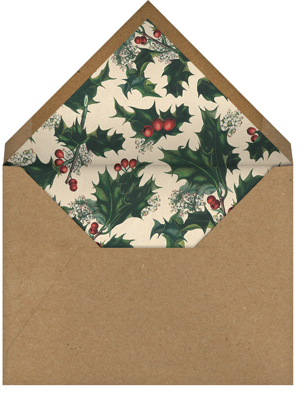 Branches de Houx (Tall) - John Derian - Christmas party - envelope back