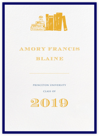 Contorno - Blue - Paperless Post - Graduation announcements
