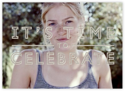 It's Time To Celebrate - silver - Paperless Post -