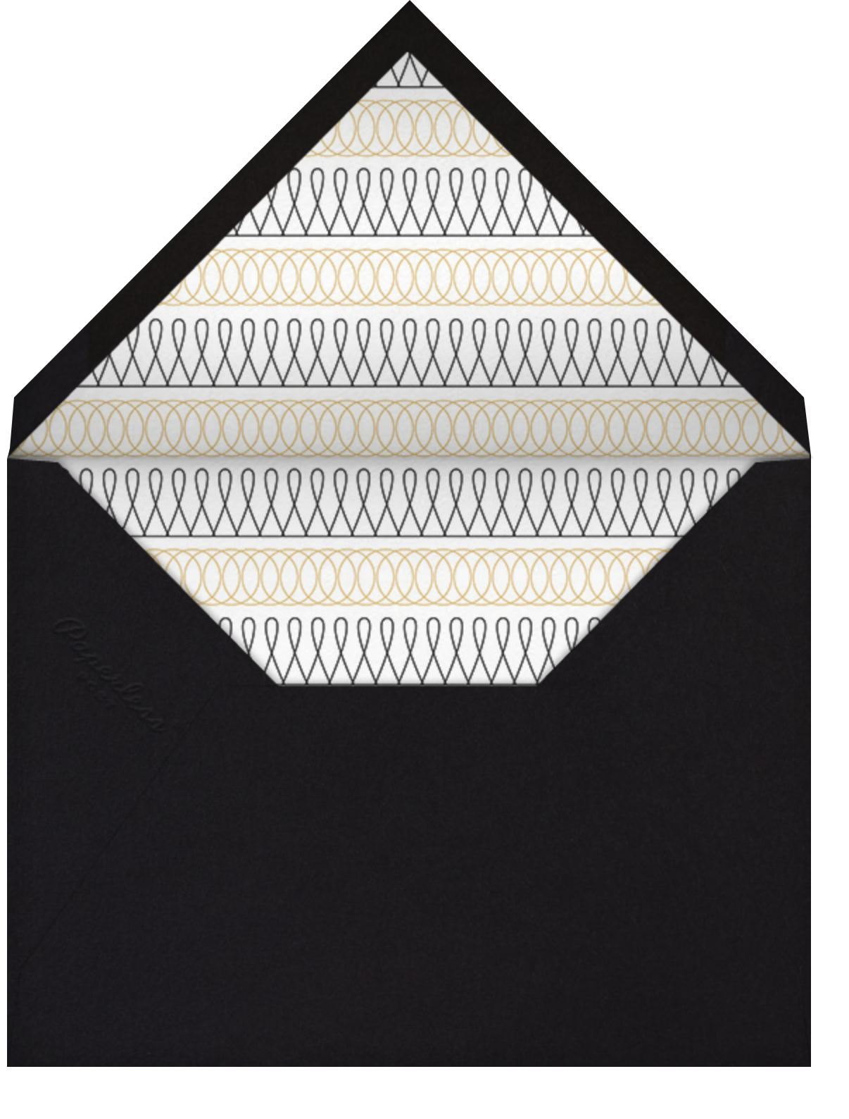 Spirals (Square) - Gold - Paperless Post - Graduation - envelope back