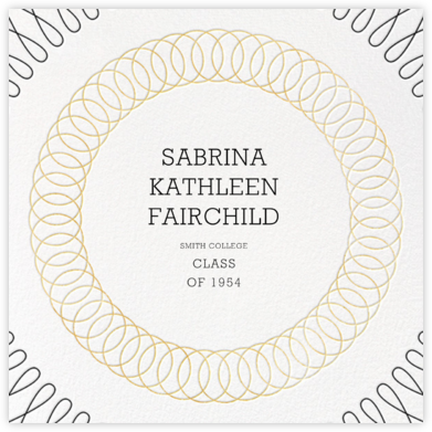 Spirals (Square) - Gold - Paperless Post - Graduation Announcements