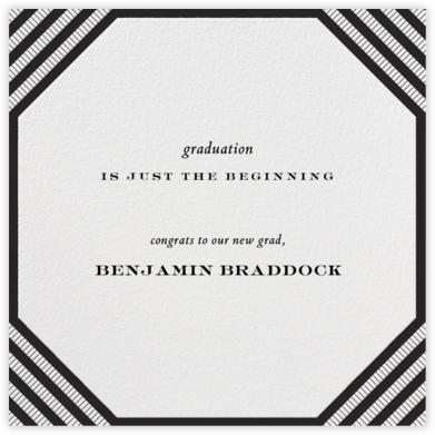 Claridge (Square) - Black - Paperless Post - Graduation announcements
