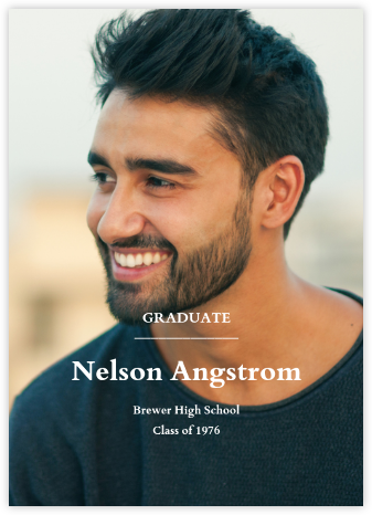 Full-Page Photo (Single-Sided) - Tall - Paperless Post - Graduation announcements