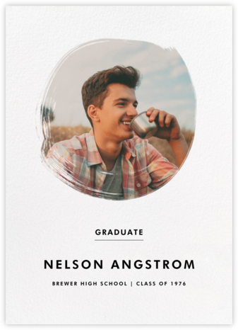 Painted Circle - Paperless Post - Graduation Announcements