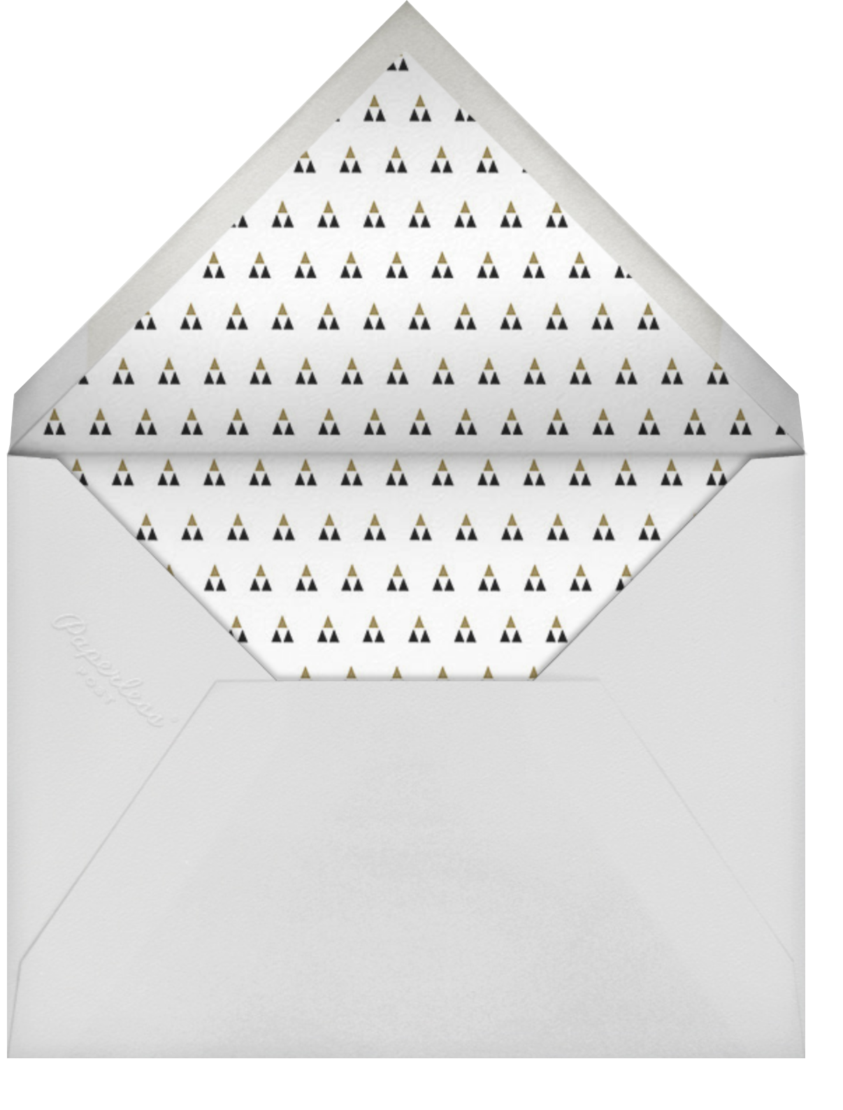 Ionic - Paperless Post - Graduation party - envelope back