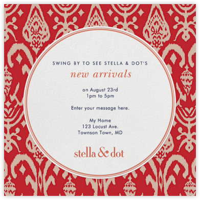 Stella and Dot Ikat - Red - Paperless Post -