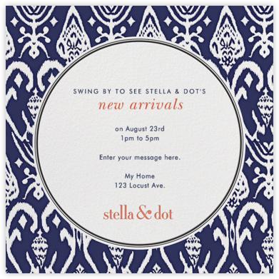 Stella and Dot Ikat - Navy - Paperless Post -