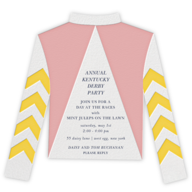 Racing Silk Chevron - Paperless Post - Sporting Event Invitations