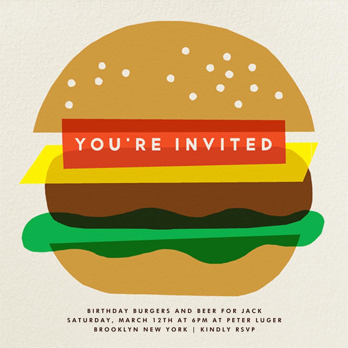 Burger Beer - The Indigo Bunting - Summer entertaining invitations