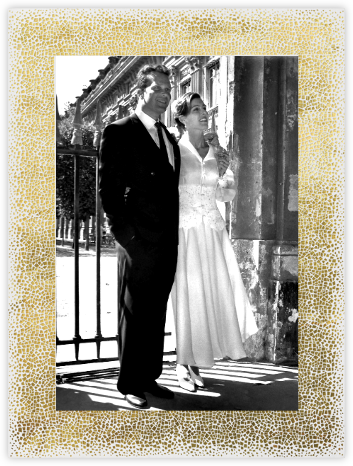 La Goulette Disco - White/Gold - Paperless Post - Anniversary party invitations