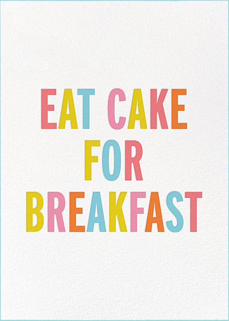 Eat Cake for Breakfast (Tall) - kate spade new york - Birthday cards