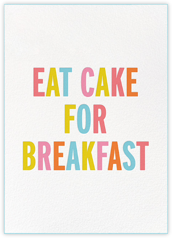 Eat Cake for Breakfast (Tall) - kate spade new york - Kate Spade invitations, save the dates, and cards