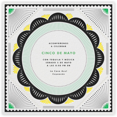 Santa Fe - Green/Yellow - The Indigo Bunting - Cinco de Mayo Invitations