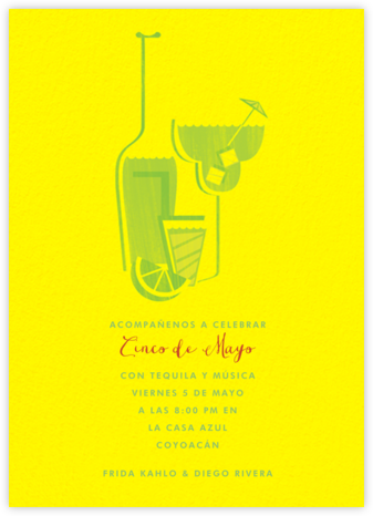 Margaritaville - Yellow - Paperless Post - Bachelorette party invitations