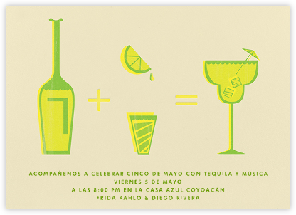 Margarita Equation - Sand - Paperless Post - Cinco de Mayo Invitations