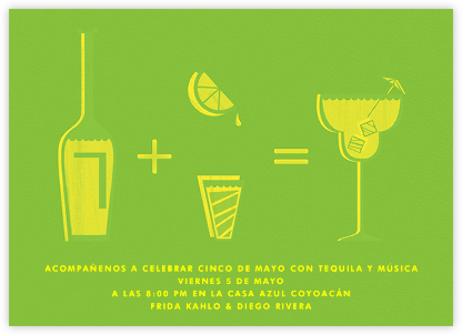 Margarita Equation - Green - Paperless Post - Bachelorette party invitations