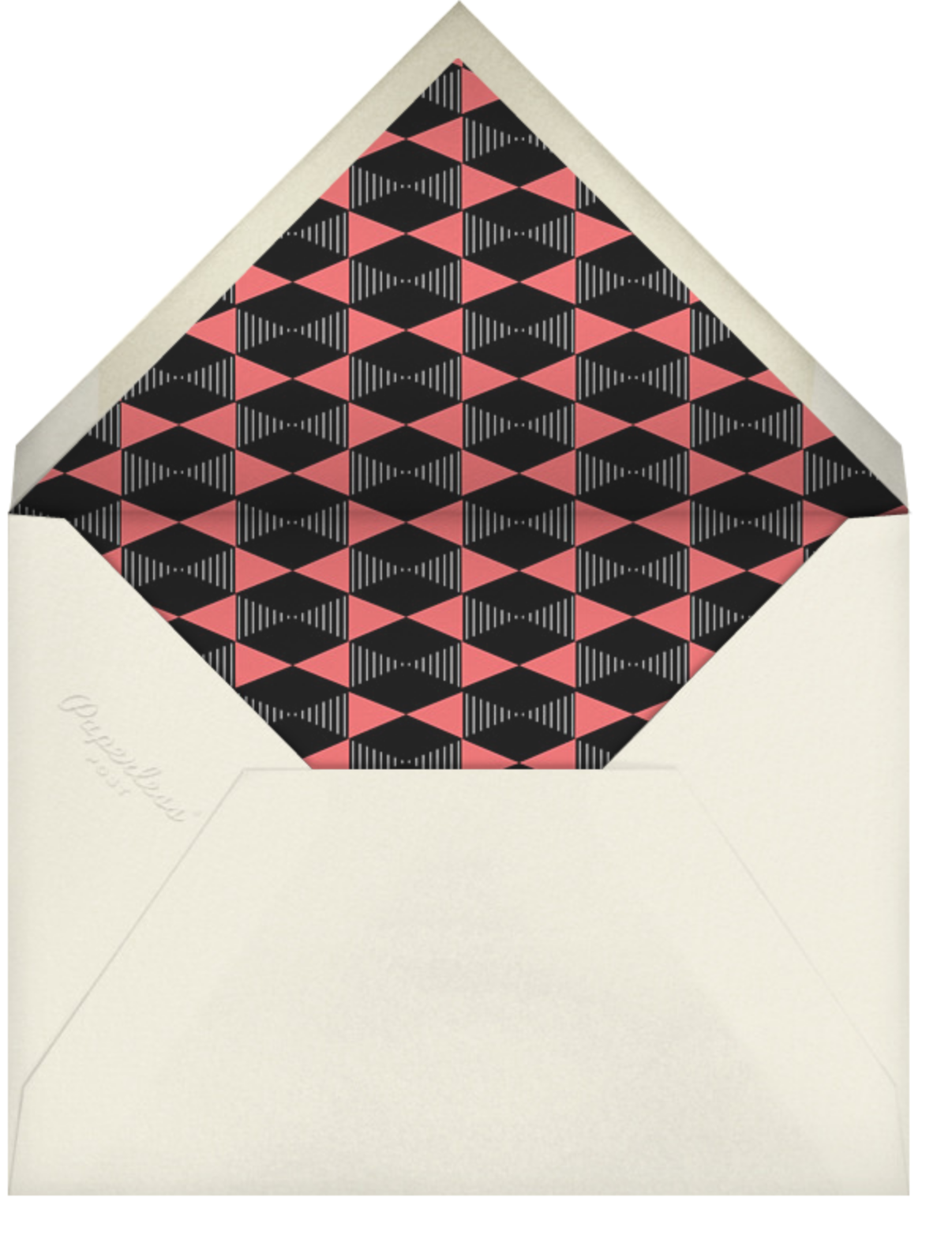 Plaza Square - Coral - Paperless Post - Moving - envelope back