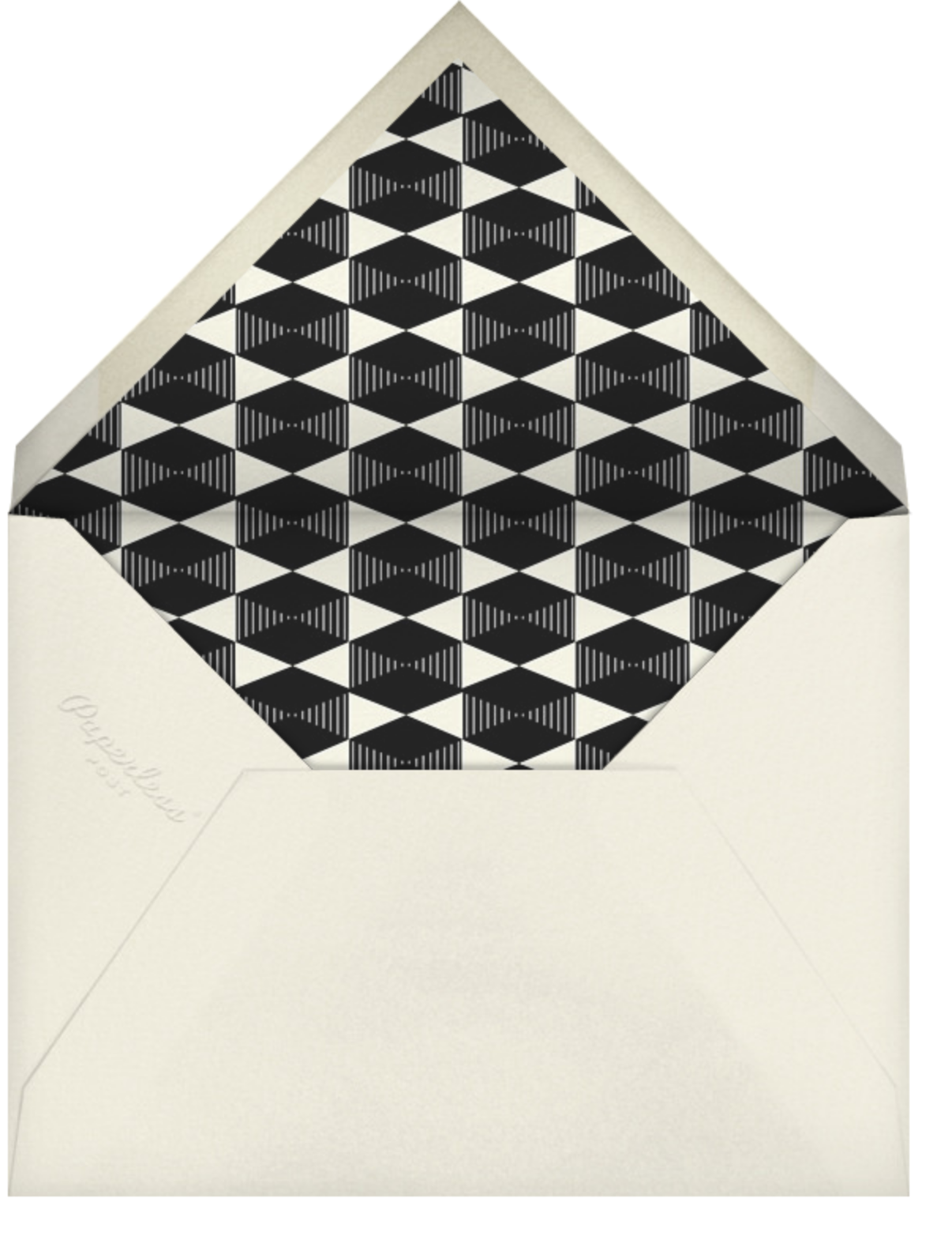 Plaza Square - Cream - Paperless Post - Moving - envelope back