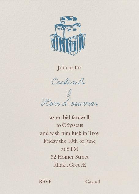 Cream - Tall - Paperless Post - Retirement invitations, farewell invitations