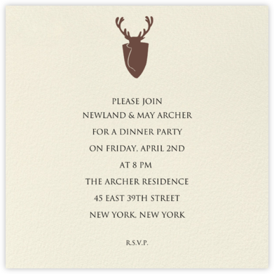 Cream (Square) - Paperless Post - Dinner Party Invitations