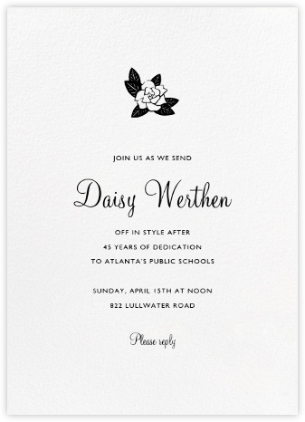 White (Tall) - Paperless Post - Retirement invitations, farewell invitations
