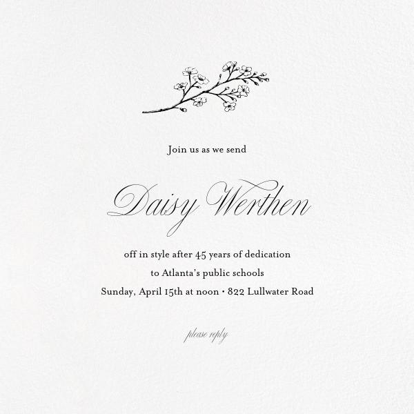 Retirement invitations farewell invitations online at Paperless Post