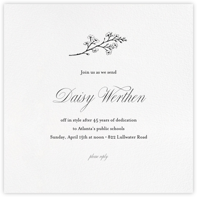 White (Square) - Paperless Post - Retirement Invitations
