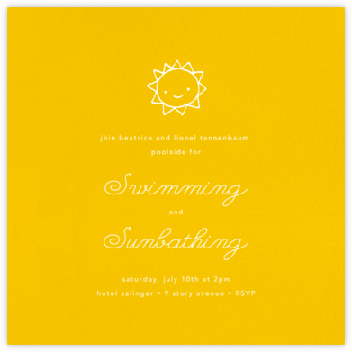 Mustard (Square) - Paperless Post - Summer entertaining invitations