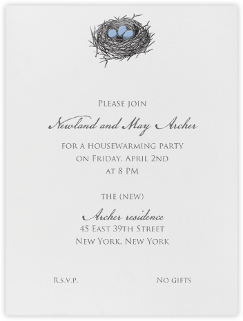 Nest (Blue) - Paperless Post - Housewarming party invitations