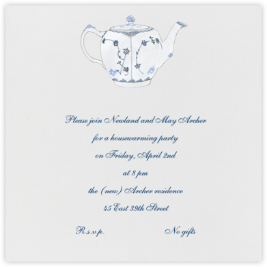 Tea Time - Paperless Post - Housewarming party invitations