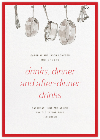 Kitchen Shower - Paperless Post - Dinner Party Invitations