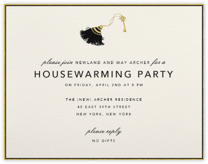 Tassel and Key - Paperless Post - Housewarming party invitations