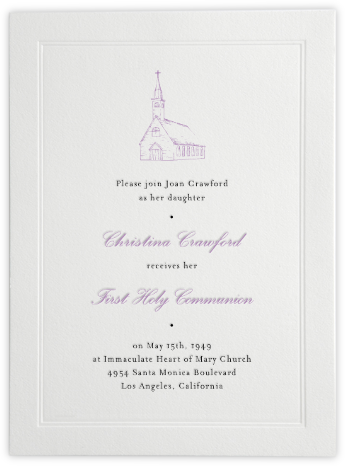 Standard - Paperless Post - First communion invitations