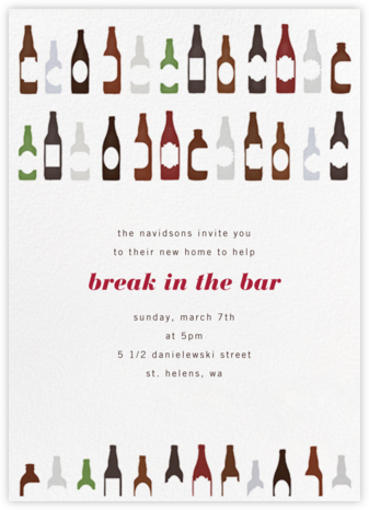 99 Bottles - Paperless Post - Happy hour invitations