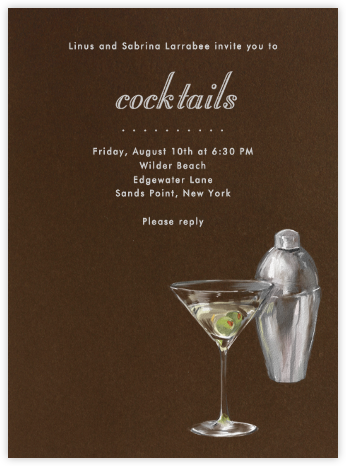 Martini and Shaker - Paperless Post - Business Party Invitations