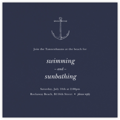 Navy (Square) - Paperless Post - Summer entertaining invitations