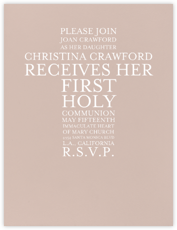 Rose - Paperless Post - First communion invitations