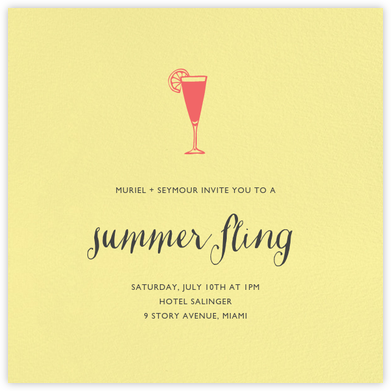 Lemon Drop (Square) - Paperless Post - Summer entertaining invitations
