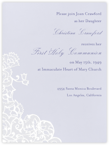 Chantilly - Mist with White (Tall) - Paperless Post - Invitations