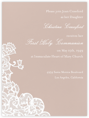 Chantilly - Rose with White (Tall) - Paperless Post - Invitations