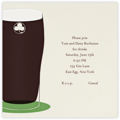 Pint of Stout - Paperless Post - General Entertaining Invitations