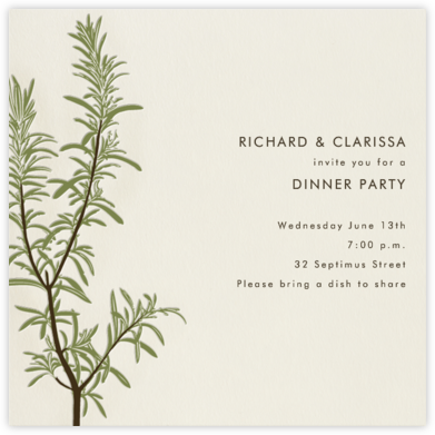 Rosemary - Paperless Post - Dinner Party Invitations
